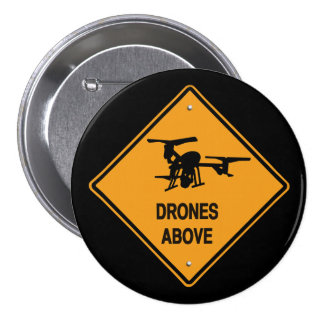 drones above 7.5 cm round badge
