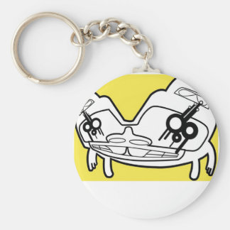 Droog. An Haida Indian illustrated dog Basic Round Button Key Ring