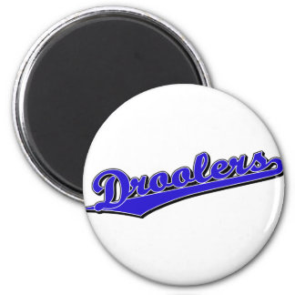 Droolers in Blue 6 Cm Round Magnet