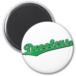 Droolers in Green 6 Cm Round Magnet
