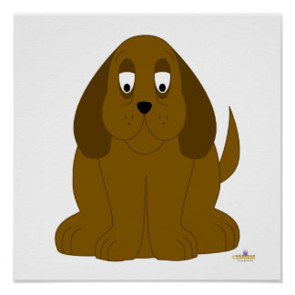 Droopy Brown Dog Poster
