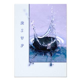 Drop 13 Cm X 18 Cm Invitation Card