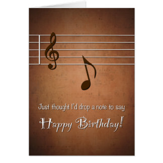 Drop a Punny Note to Say Happy Birthday Greeting Card