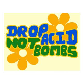 Drop acid not bombs postcard