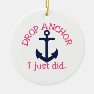 Drop Anchor Christmas Ornament