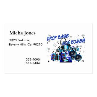 Drop Bass Not Bombs Pack Of Standard Business Cards
