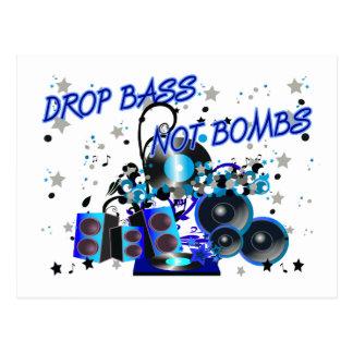 Drop Bass Not Bombs Postcard