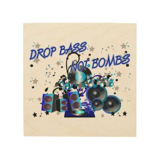 Drop Bass Not Bombs Sub vs War Wood Print