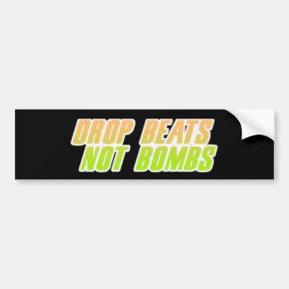 Drop Beats Not Bombs Bumper Sticker