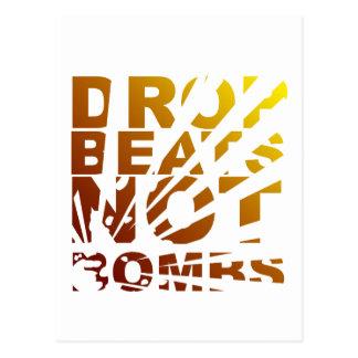 DROP BEATS NOT BOMBS EXPLOSION - DJ POSTCARDS