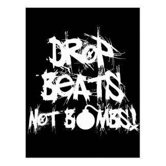 Drop Beats Not Bombs Postcard