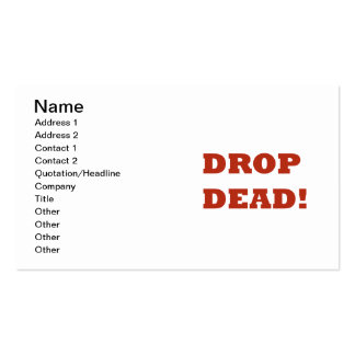 Drop Dead Double-Sided Standard Business Cards (Pack Of 100)