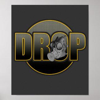 DROP DnB Drumnbass dubstep Jungle Hardstyle DJ Poster