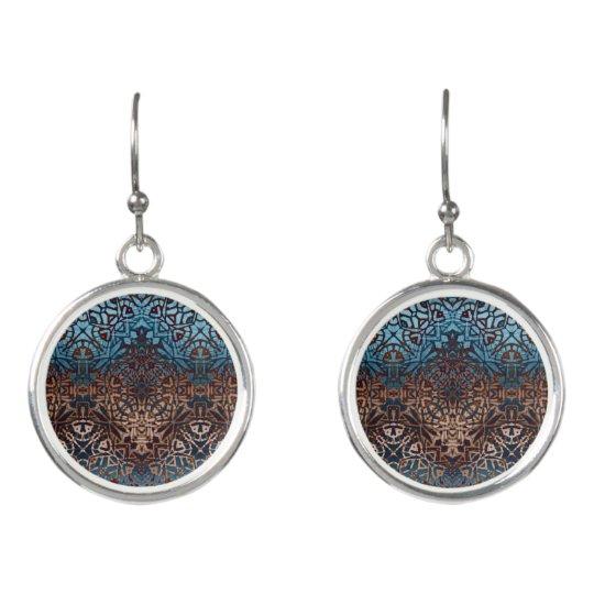 Drop Earrings Ethnic Tribal Pattern