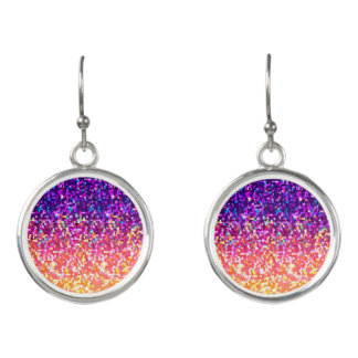 Drop Earrings Glitter Graphic