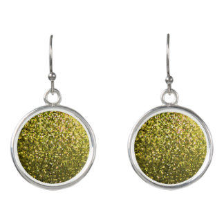 Drop Earrings Gold Mosaic Sparkley Texture