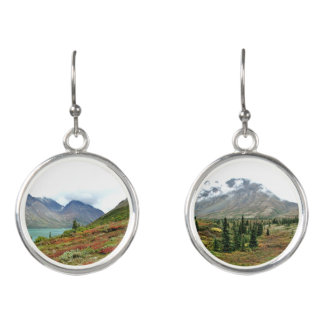 Drop earrings of Twin Lakes Alaska