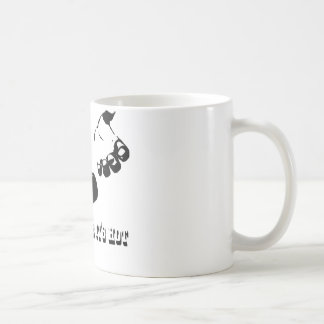 drop it likes it hot classic white coffee mug