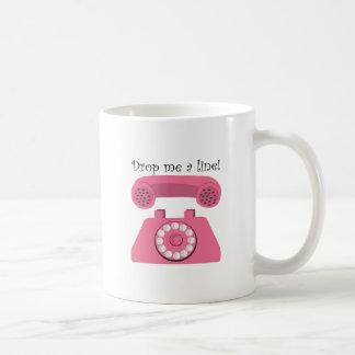 Drop Me A Line! Basic White Mug