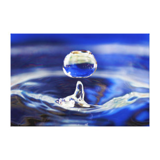 Drop of Cool Blue Water Raindrop Canvas Print