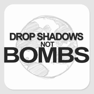 Drop Shadows Square Sticker