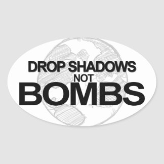 Drop Shadows Oval Stickers