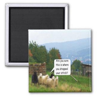 Drop Stitch Sheep Magnet