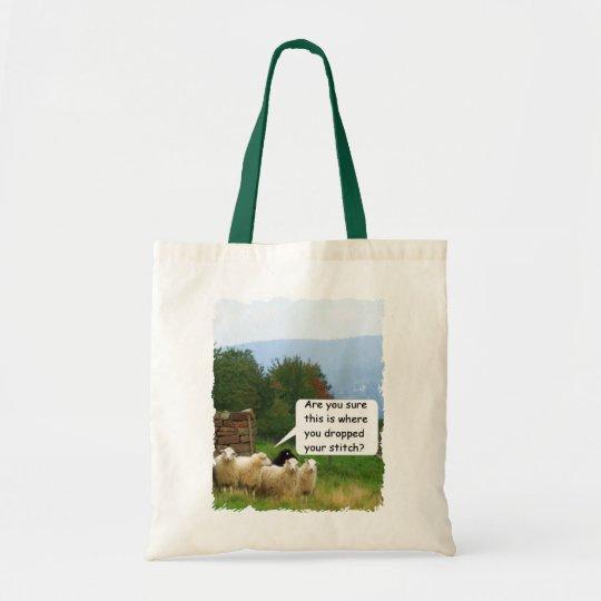 Drop Stitch Sheep Tote Bag