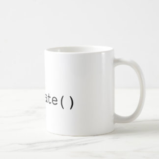 drop() terminate() basic white mug
