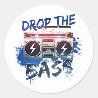 Drop the Bass Round Sticker