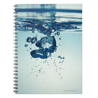 Droplet forming bubbles underwater notebook