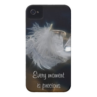 Droplet of water on a white feather iPhone 4 case