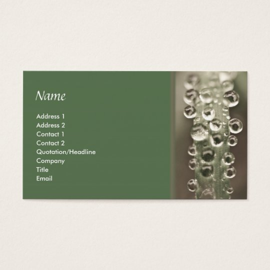 Droplets Business Card