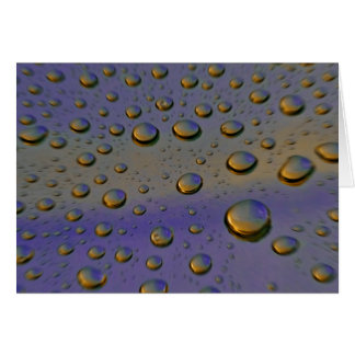 droplets greeting card