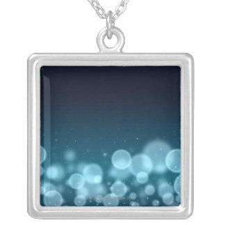 Droplets of Water Silver Plated Necklace