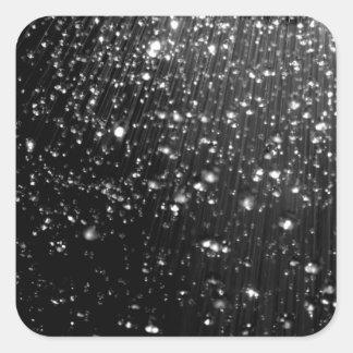 Droplets Square Sticker