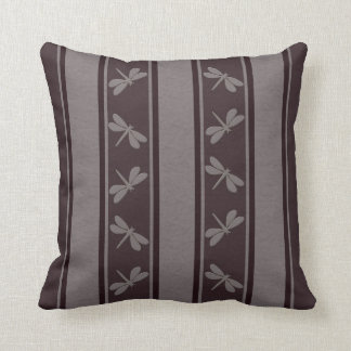 Dropped Lines Browns Dragonfly Decor-Soft Pillows