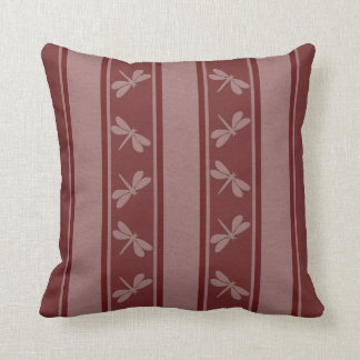 Dropped Lines Reds Dragonfly Decor-Soft Pillows