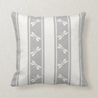 Dropped Lines White Dragonfly Decor-Soft Pillows