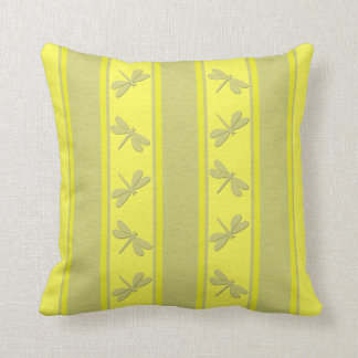 Dropped Lines Yellow Dragonfly Decor-Soft Pillows