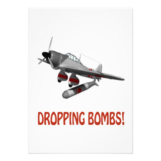 Dropping Bombs Personalized Invites