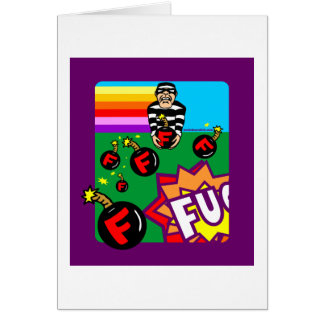 DROPPING F BOMBS GREETING CARD