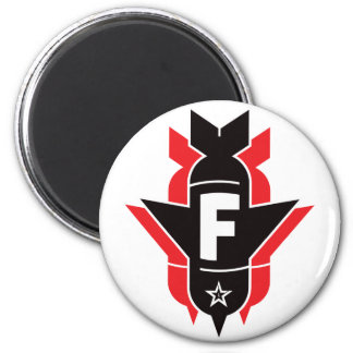 Dropping F Bombs - Red 6 Cm Round Magnet