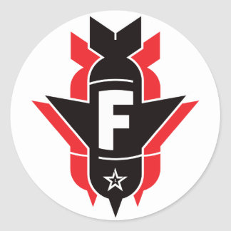Dropping F Bombs - Red Round Sticker