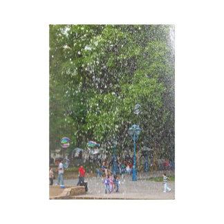Drops and bubbles canvas print