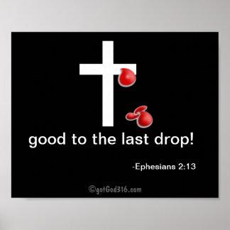 Drops of Blood gotGod316.com Cross Poster