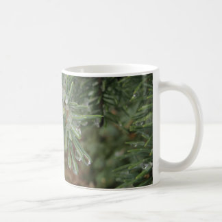 Drops on Blue Spruce Basic White Mug