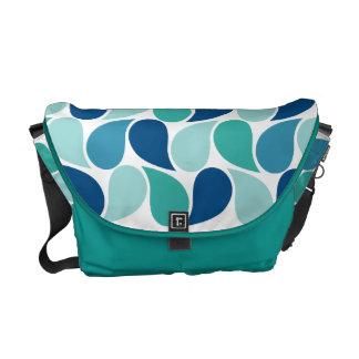 Drops Pattern custom messenger bag