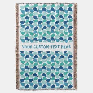 Drops Pattern custom throw blanket