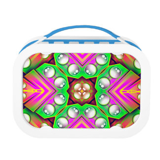 Drops Water On A Colorful Abstract Background Lunch Box